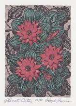 Boyd Everett Hanna Wood Engraving [Cactus]