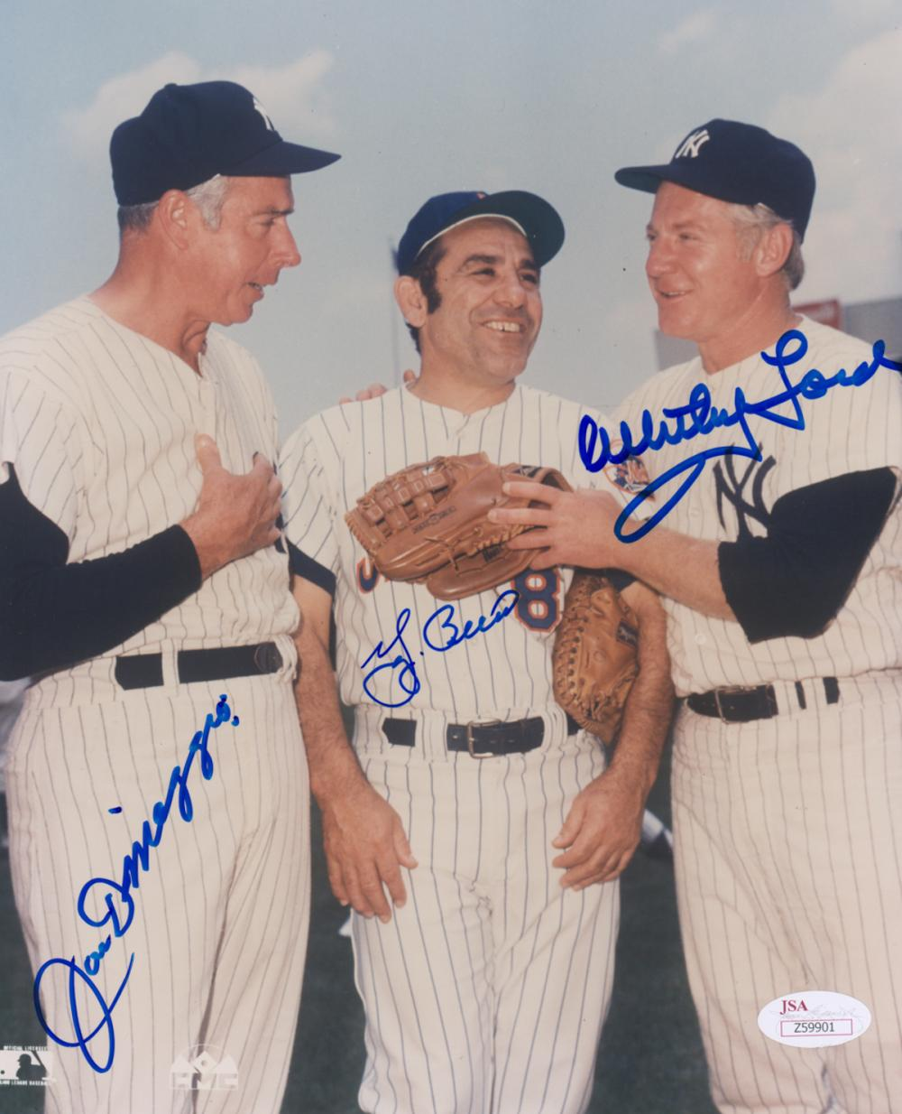New York Yankees Multi-Signed Color Photo JSA LOA