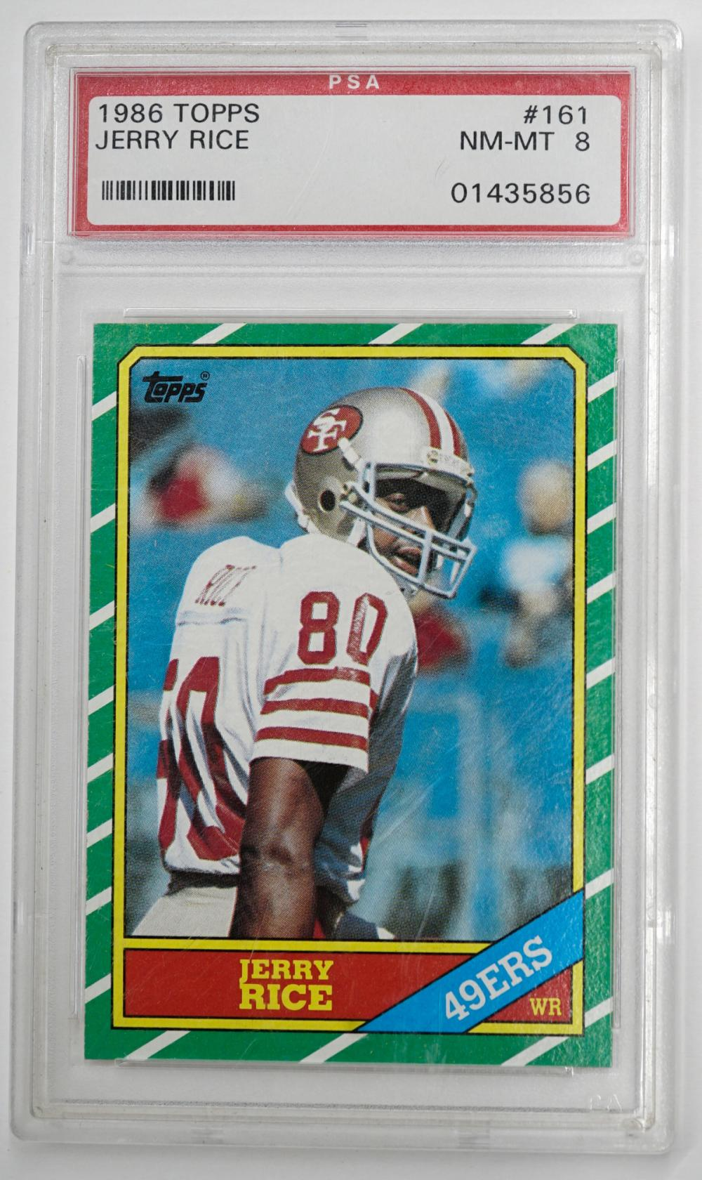 1986 Jerry Rice Topps #161 PSA NM-MT 8
