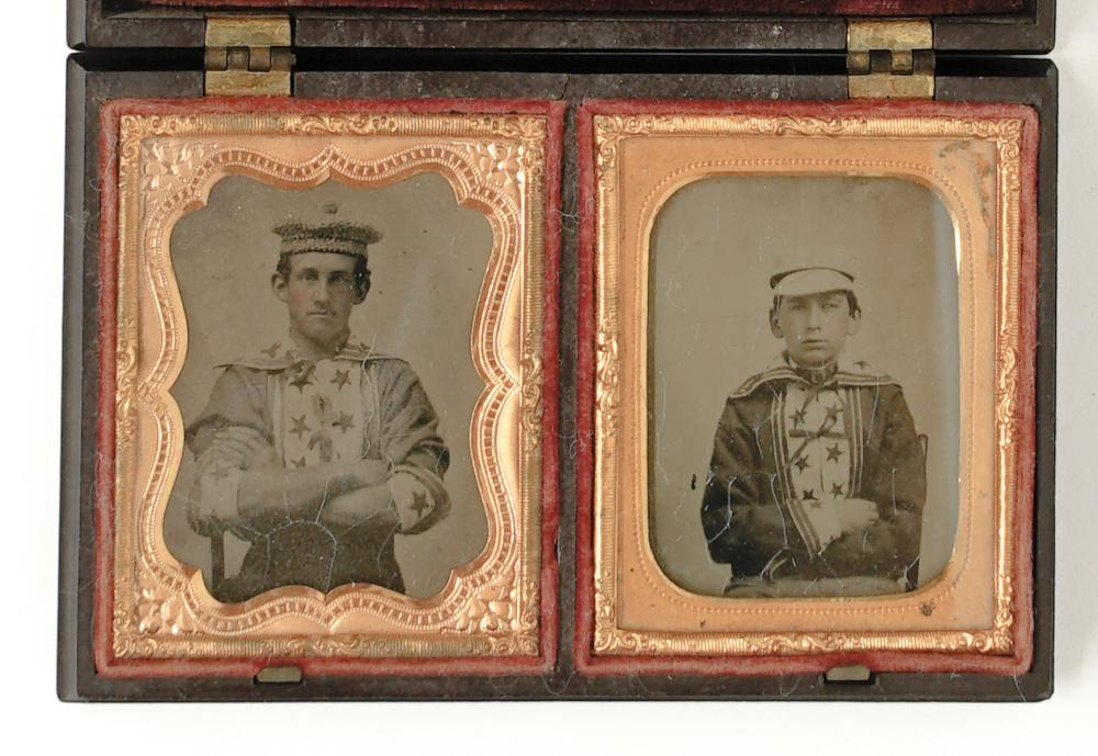 Two Ambrotypes of Boston Baseball Players