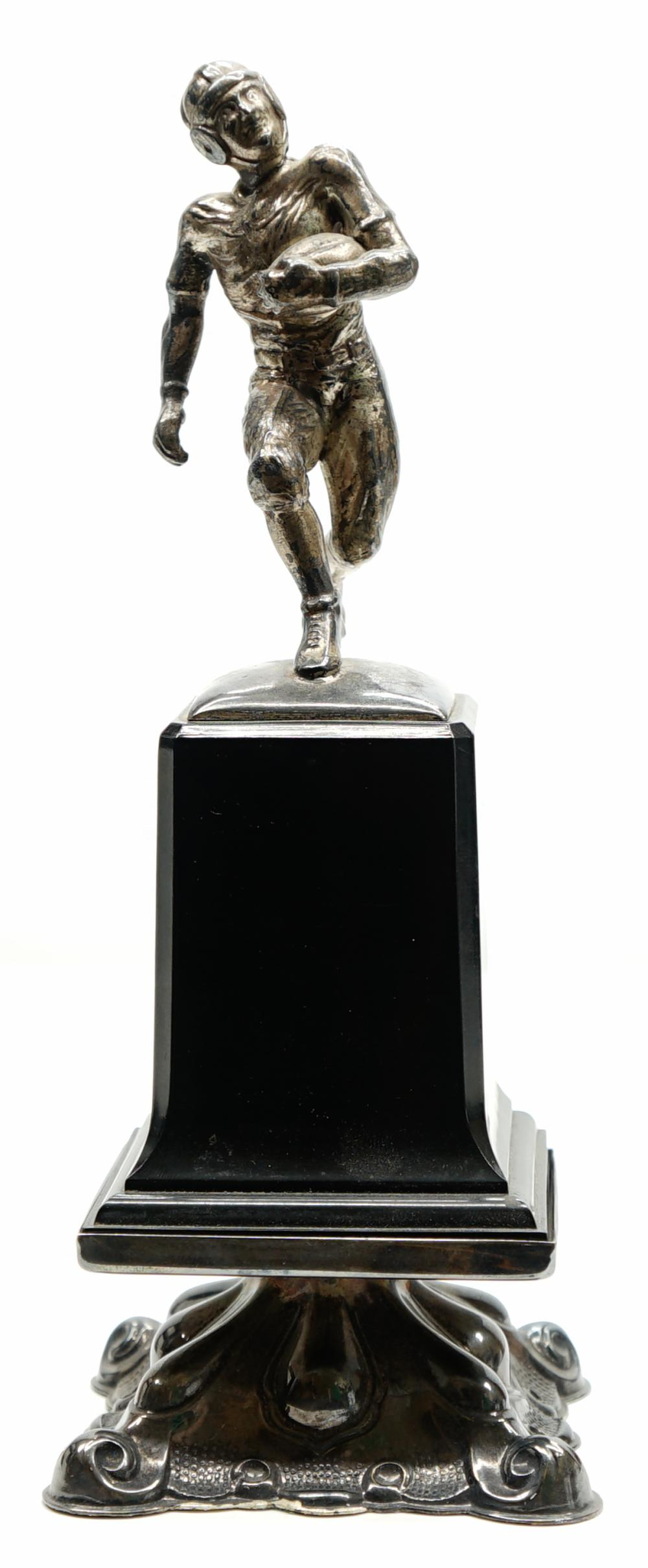 Vintage Silver Plate Football Trophy