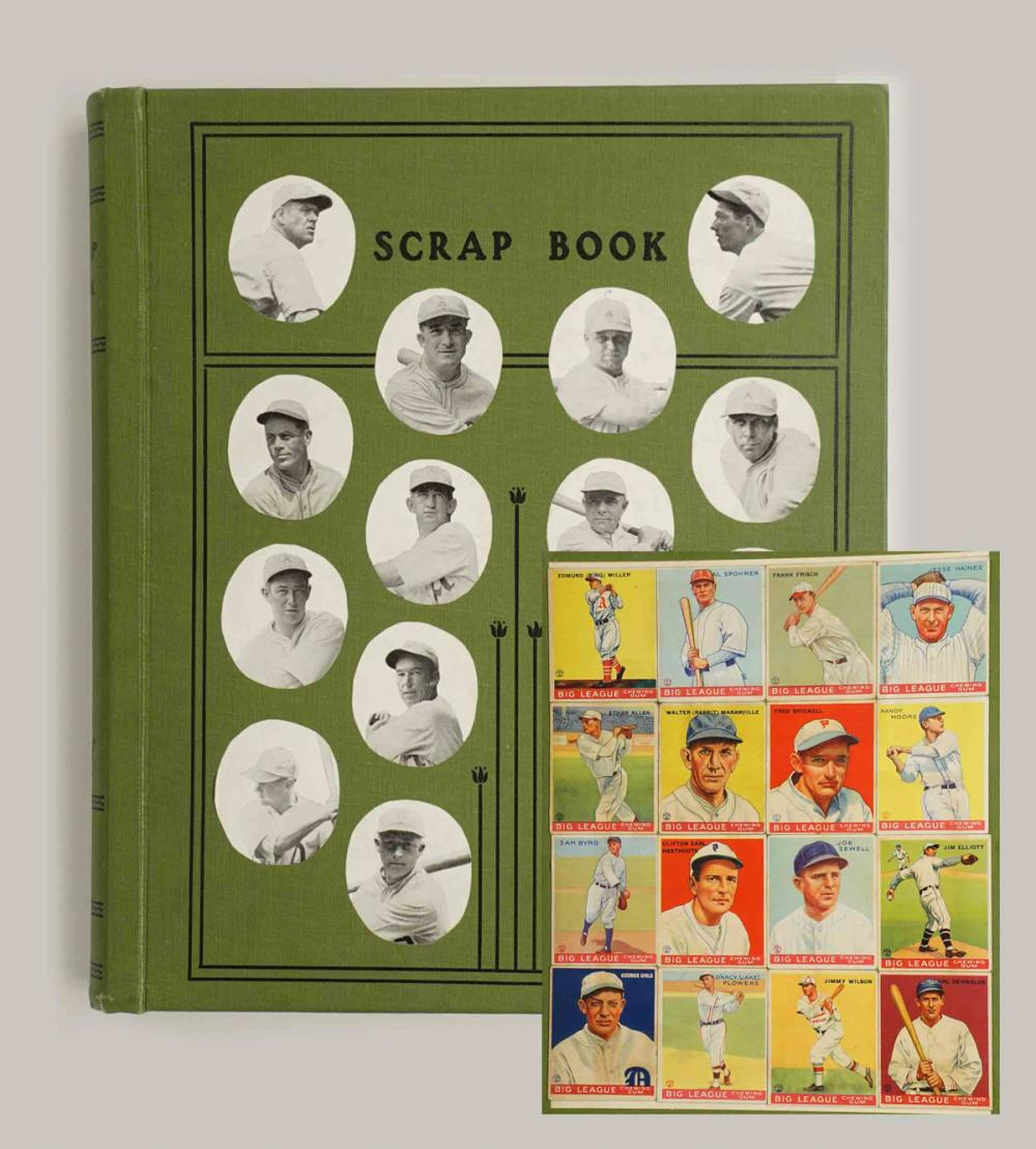 1930's Baseball Scrapbook with Goudey Cards