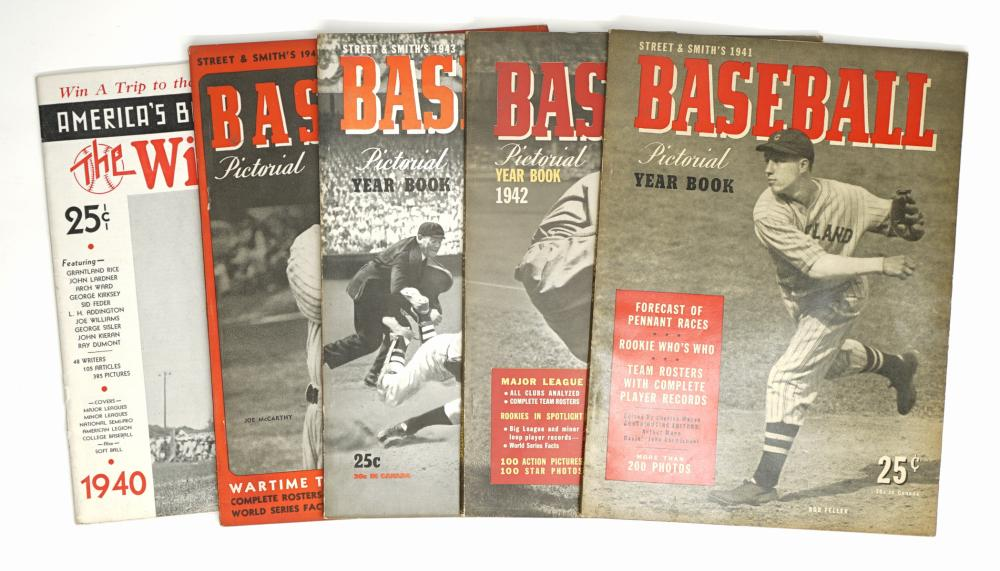1940-44 Baseball Pictorial Yearbooks, Plus (5)