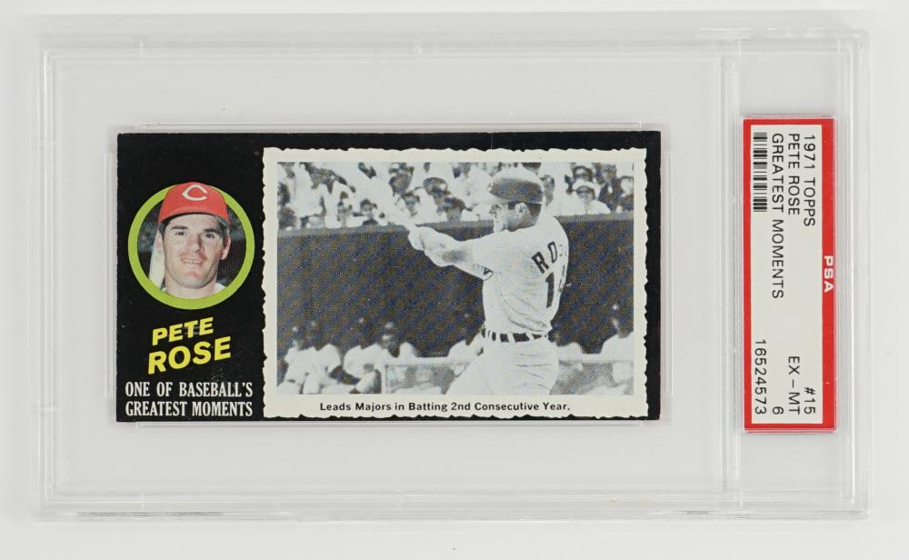 1971 Topps Greatest Moments Pete Rose PSA 6