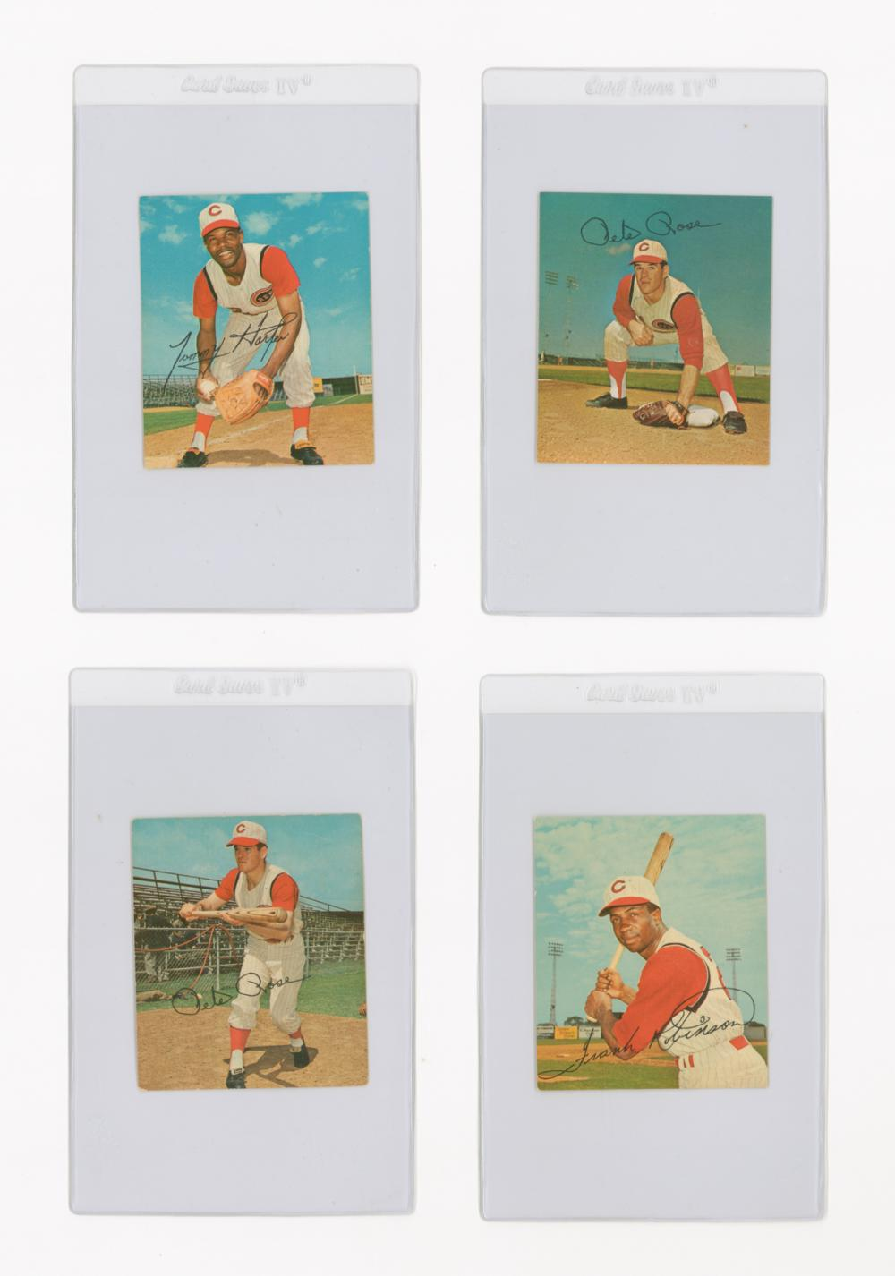 Pete Rose, Frank Robinson Kahn's Wieners Cards (4)