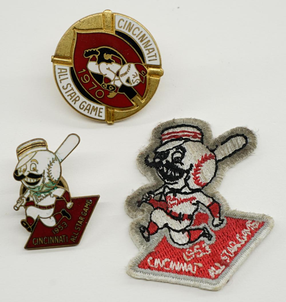 Cincinnati Reds 1953 and 1970 All Star Game Pins