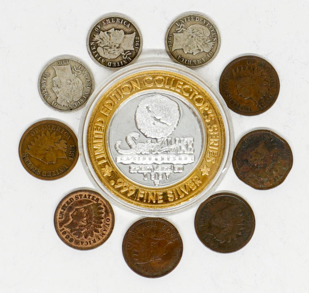Group of U.S. Coins and .999 Silver Round