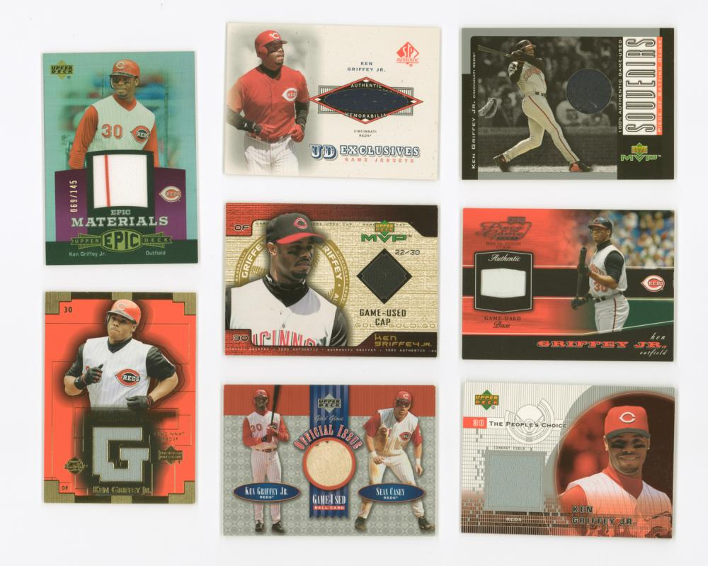 Ken Griffey, Jr. Game-Used Insert Cards (8)
