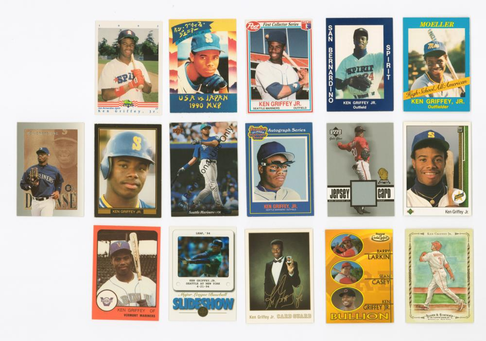 Ken Griffey, Jr. Rookie Cards, Inserts and more