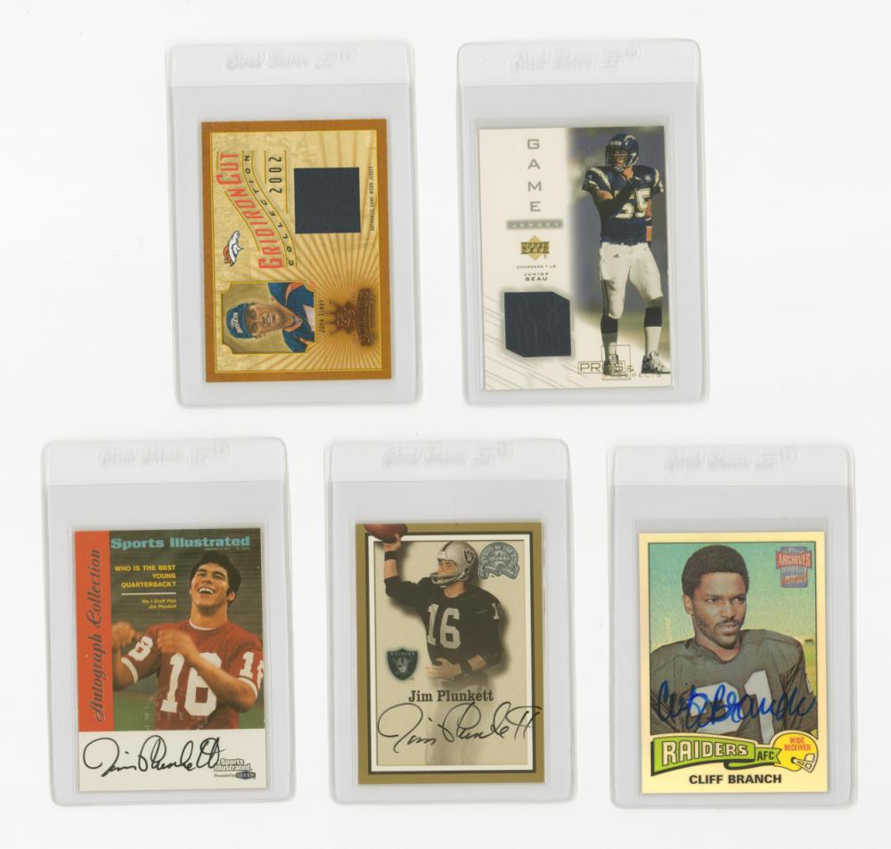 NFL Game-Used and Autographed Insert Cards