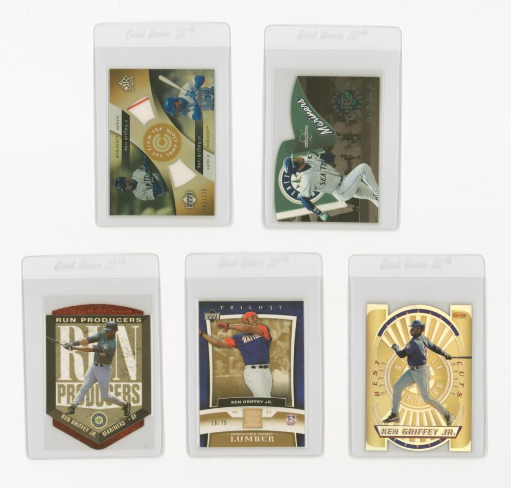 Ken Griffey, Jr. Game-Used and Insert Cards (5)