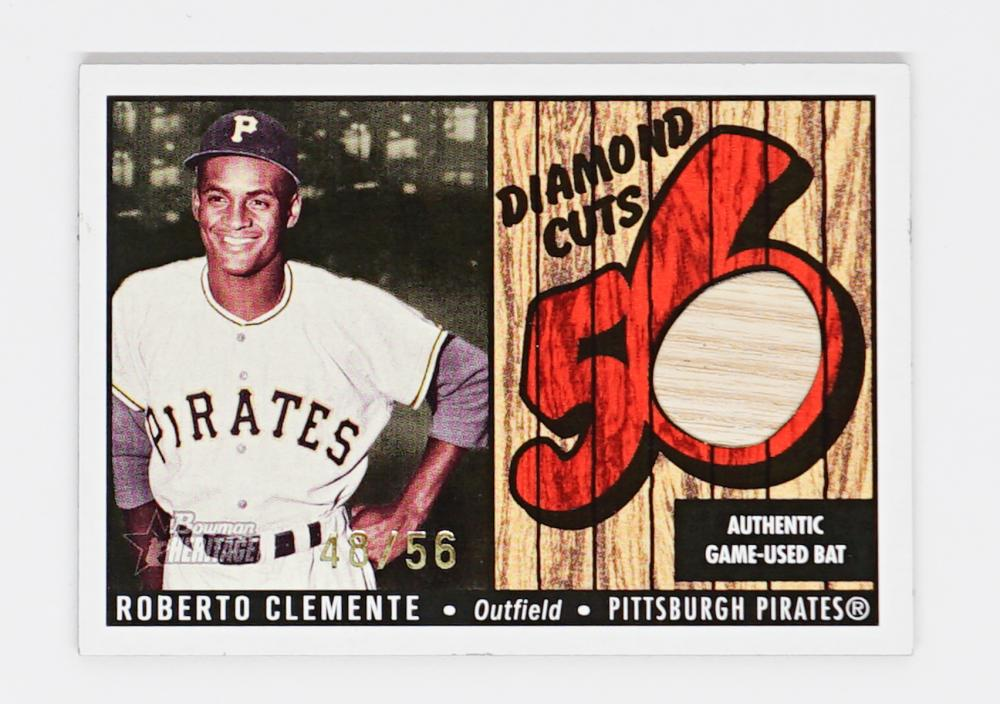 Roberto Clemente Game-Used Bat Card