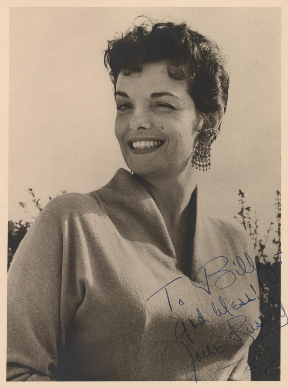 Jane Russell Signed Sepia Toned Photo PSA/DNA