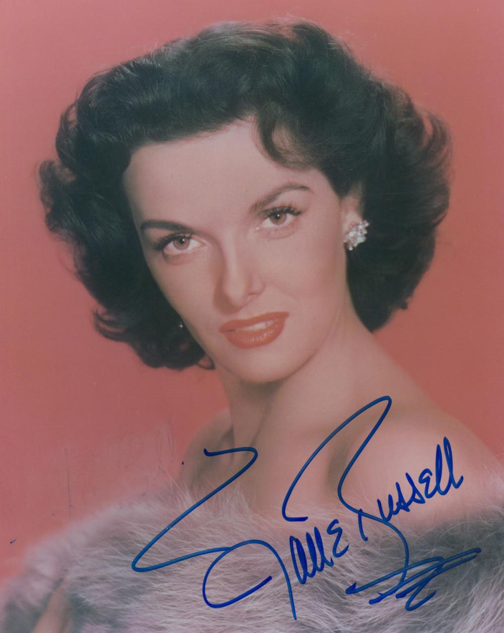 Jane Russell Signed Color Photo JSA COA