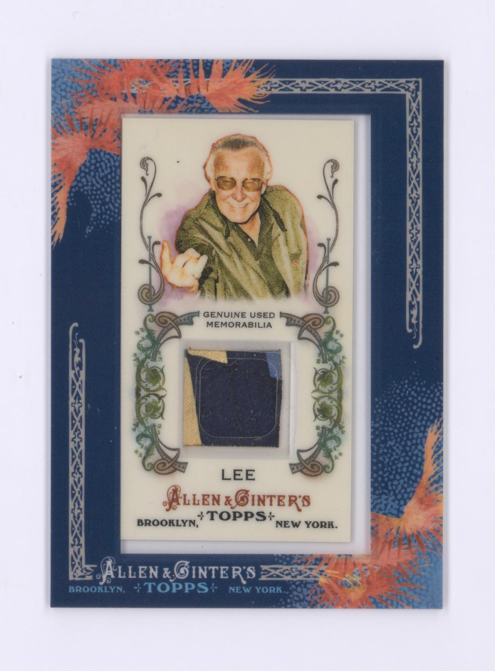 Stan Lee Topps Allen and Ginter Relic Card