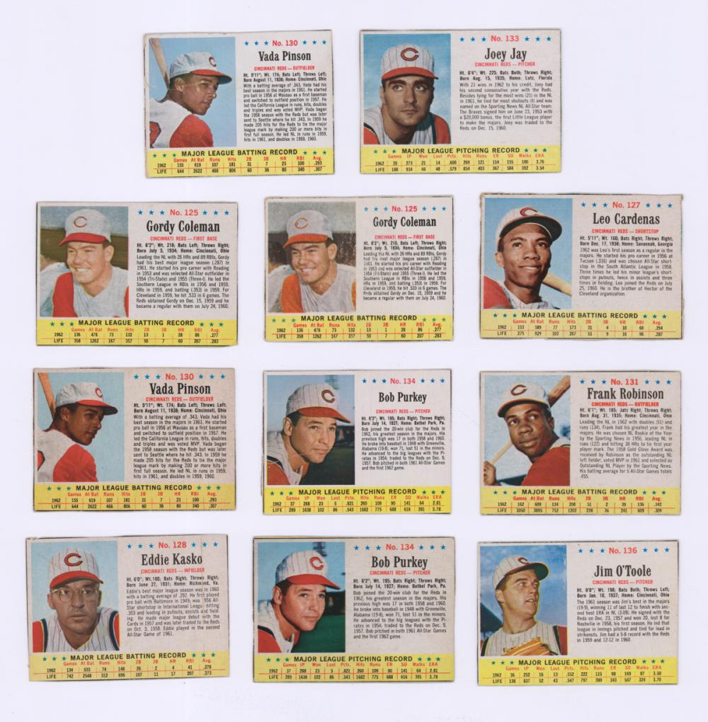 [3] Jell-O and [8] Post Cereal Baseball Cards 1963