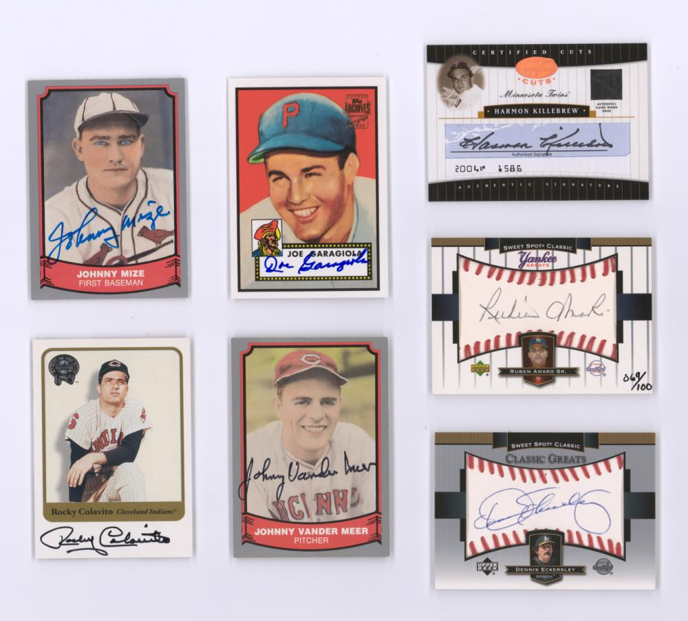 Autographed Baseball Insert Cards (7)