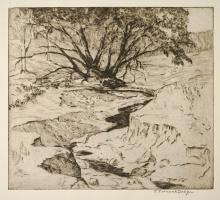 Frances Farrand Dodge (1878-1969) Drypoint