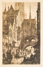 Axel Herman Haig (1835 - 1921) Large Etching