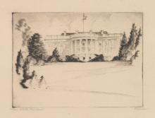 Gerry Peirce Etching [The White House]