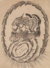 Antique Original Spencerian Pen & Ink Drawing