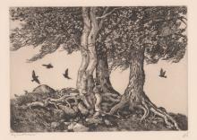 Walter Ronald Locke (1883-1949) Etching