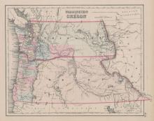 Washington and Oregon Map [J.H. Colton, 1853]