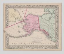 1867 Mitchell Map of Alaska
