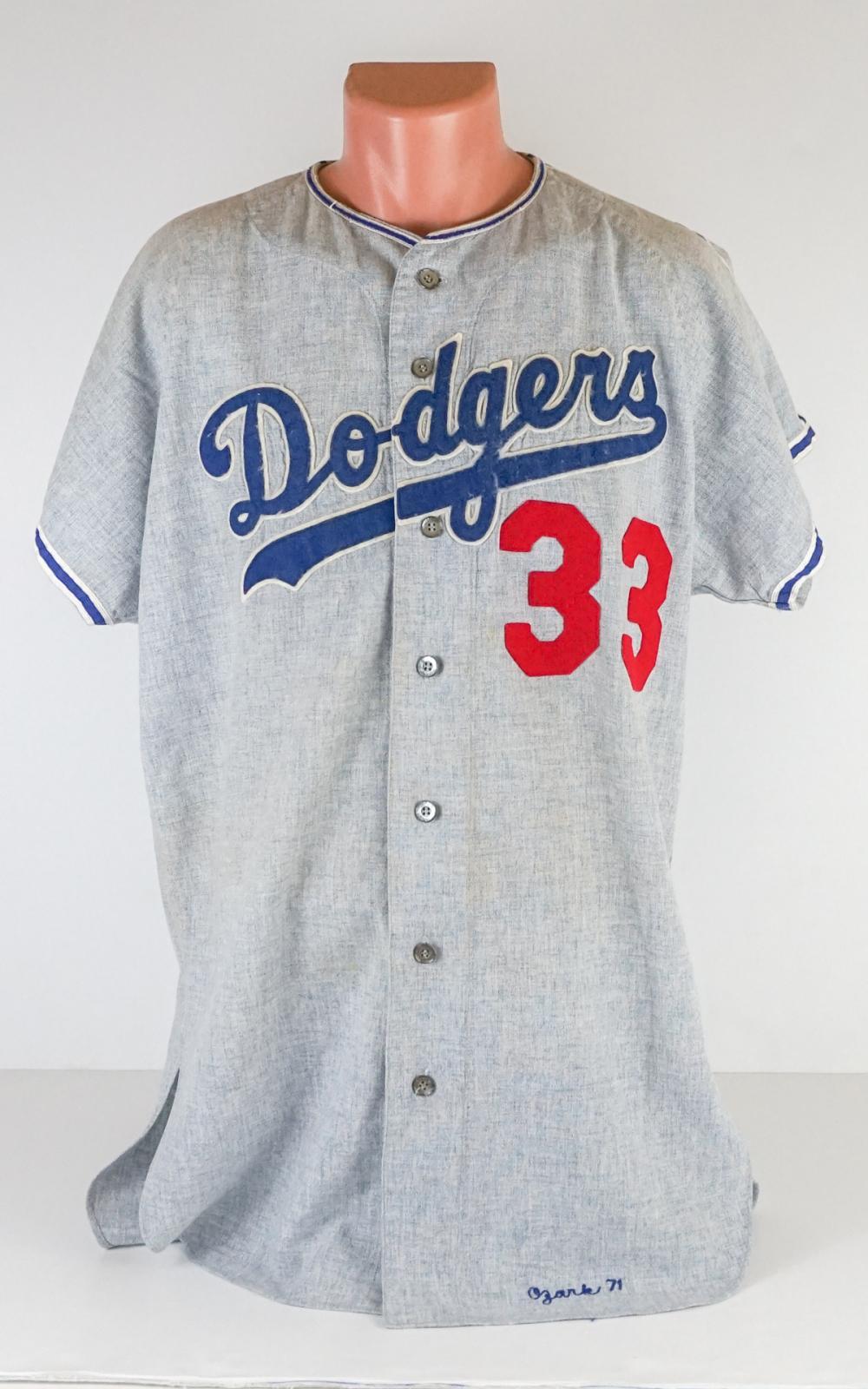 quality design db5b9 40e21 Danny Ozark 1971 Los Angeles Dodgers Away Jersey