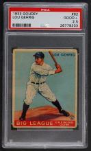 1933 Goudey Lou Gehrig PSA 2.5