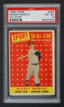 1958 Topps Mickey Mantle All-Star PSA 4