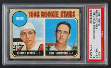 1968 Topps #247 Reds Rookie Johnny Bench PSA 4