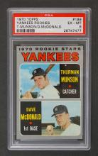 1970 Topps #189 Yankees Rookies Munson PSA 6