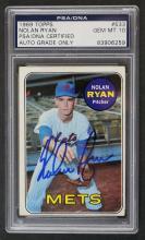1969 Topps #533 Nolan Ryan Signed Card PSA 10