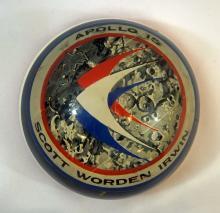 Apollo 15 Space Flown Artifacts Paperweight NASA