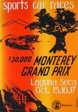 Vintage Monterey, California Grand Prix Poster