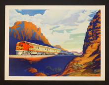Victor Beals Vintage Santa Fe Railway Poster