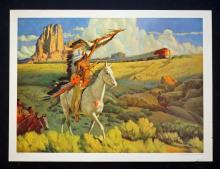1949 Santa Fe Railroad Original Travel Poster