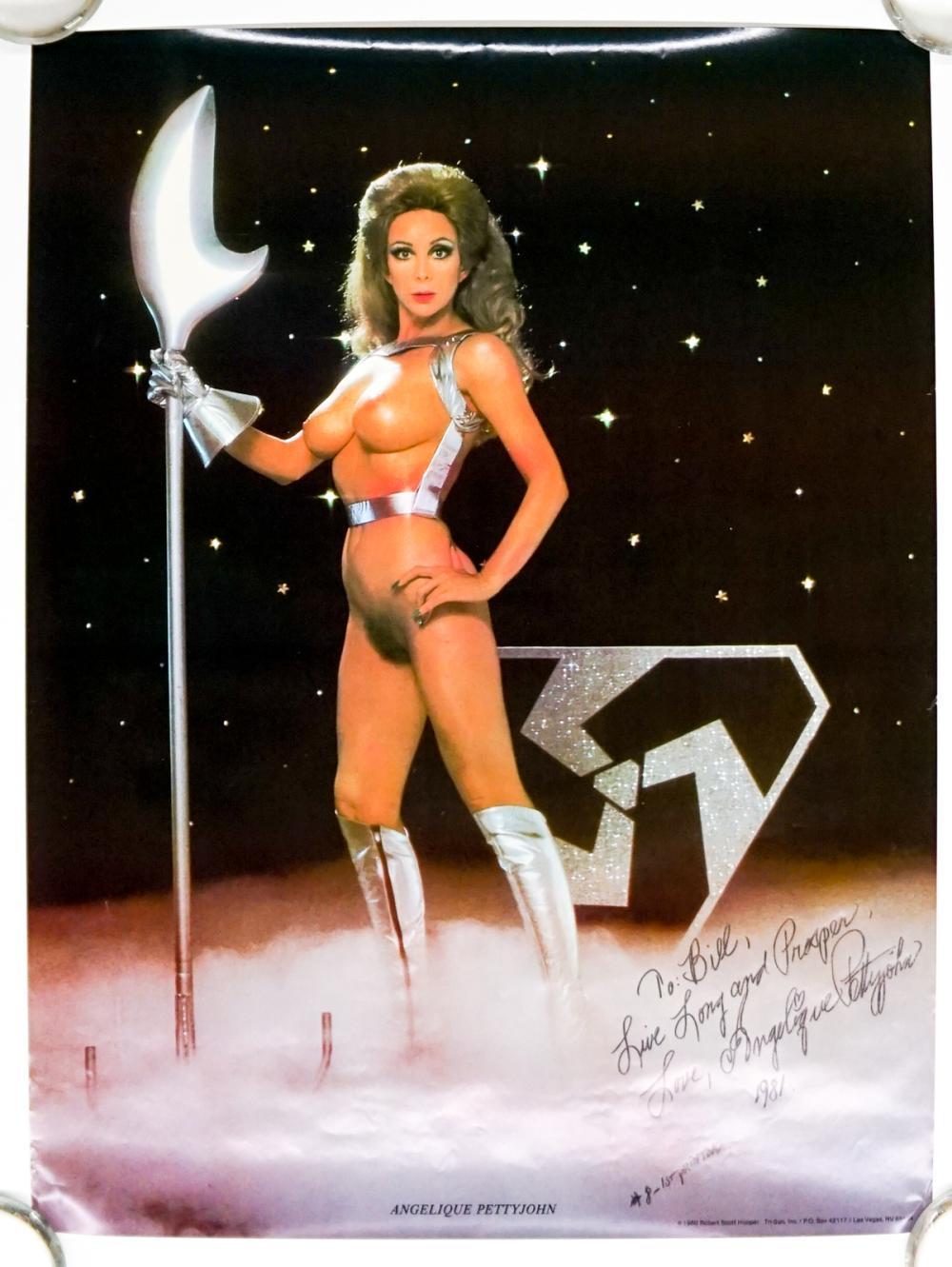 1980 Signed Angelique Pettyjohn Nude Poster