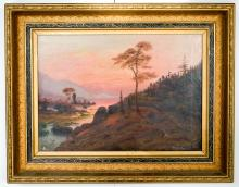 Attributed to William Parrott Framed Oil Painting