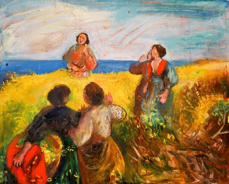 Tomasso Cascella (1890-1968) Oil on Board