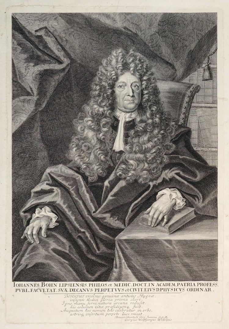 18th C. Etching Johannes Bohn by Beringeroth