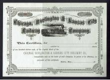 Chicago, Burlington & Kansas City Railway Stock