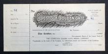 The Comstock Golden Gate Mining Co. Stock Cert.