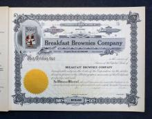 Breakfast Brownies Company Unissued Stocks