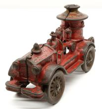Lot 5: Antique Cast Iron Fire Truck