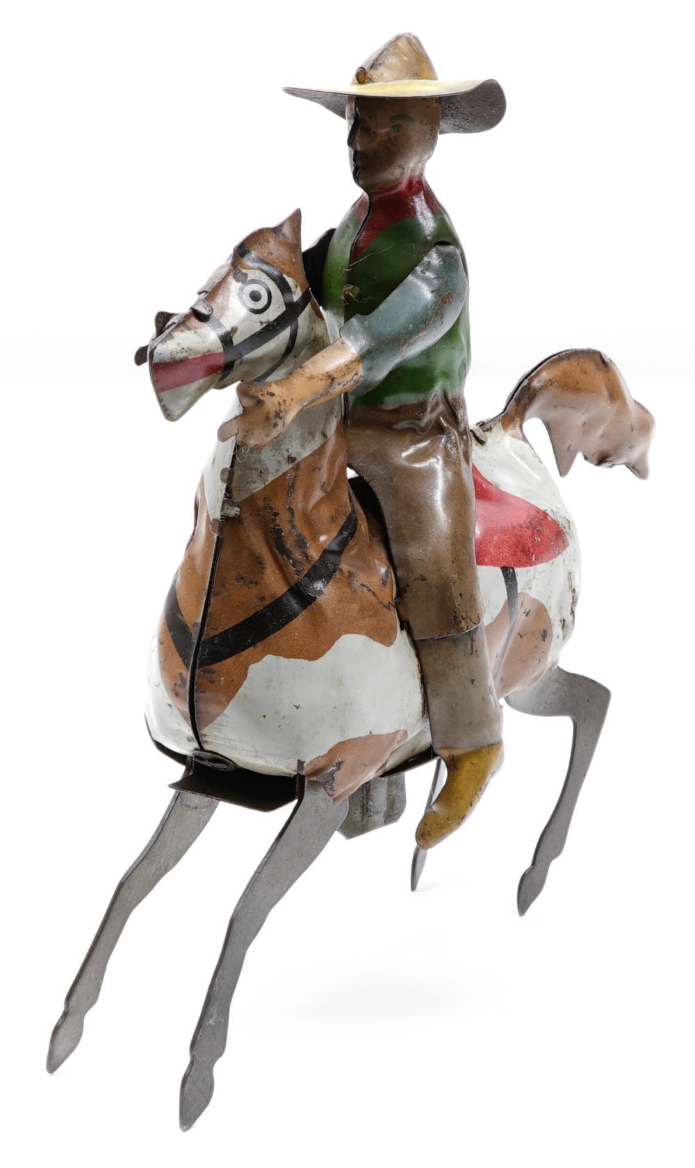Gunthermann Windup Tin Cowboy on Horse