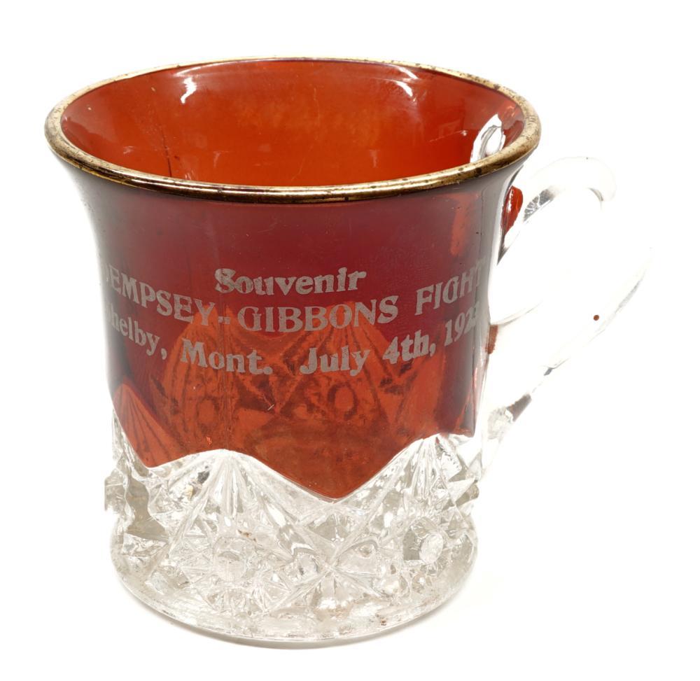 Dempsey Gibbons Boxing Souvenir Glass