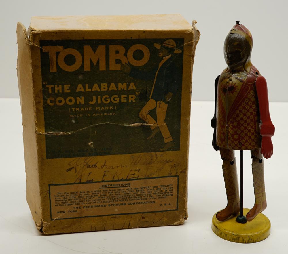 Tin Jigger Toy with Incorrect Tombo Box