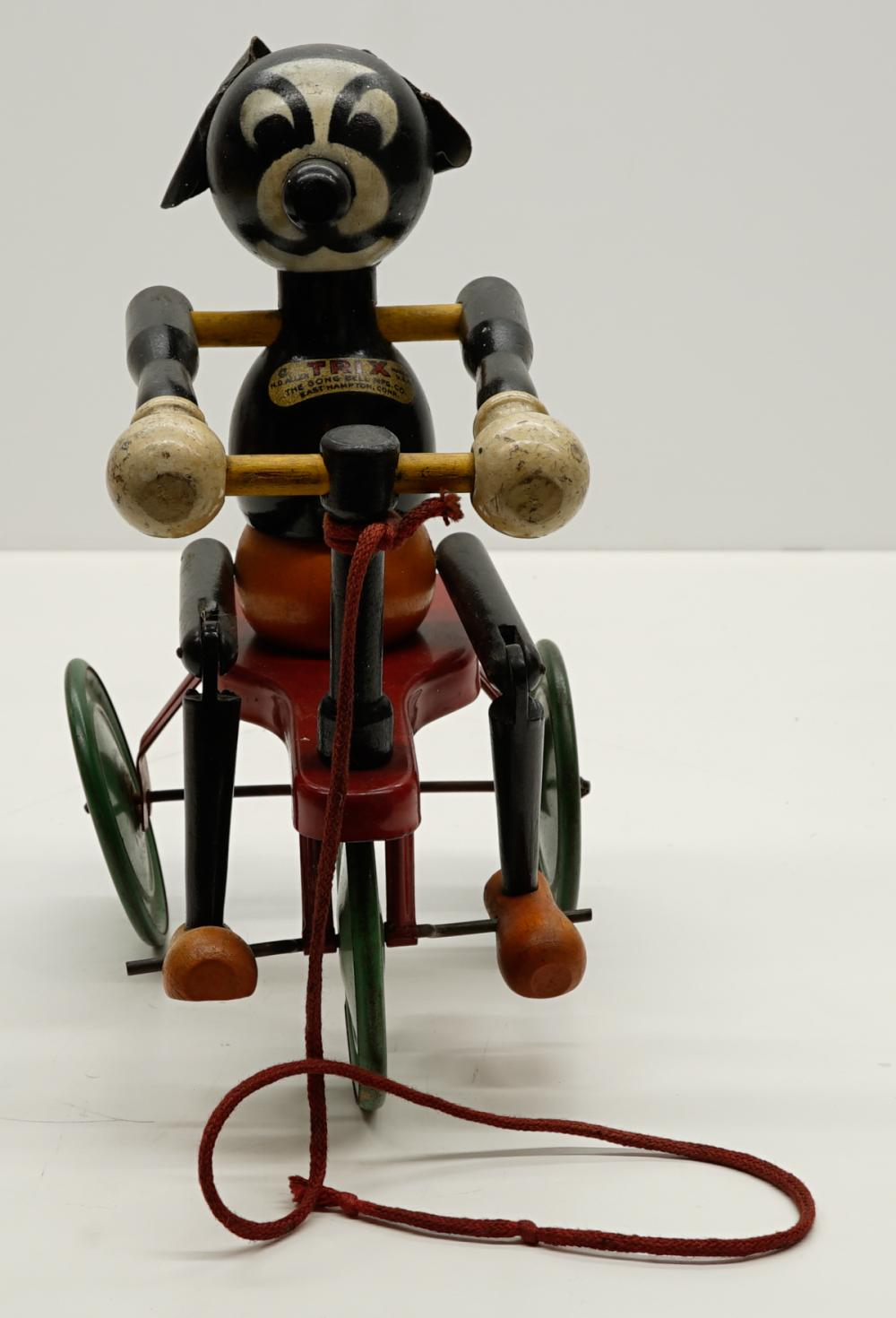 Lot 19: Gong Bell Pedal Trix #69 Toy Tricycle
